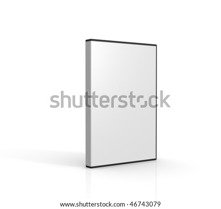 Blank DVD case on white background. Computer generated image. - stock photo
