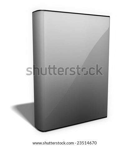 Blank e-book image with dust cover. Its much easier to create photo realistic e books based on this image - just insert your own artwork or plain text! - stock photo
