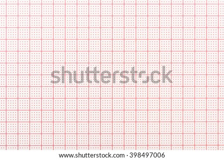 Blank Electrocardiogram Record Paper - stock photo