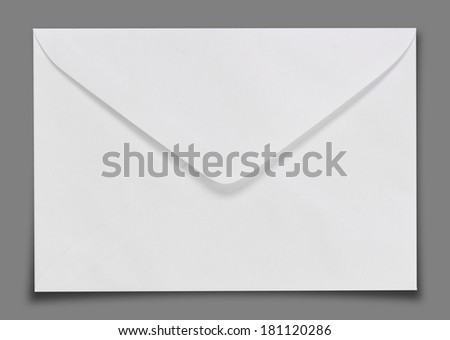 Blank envelope isolated