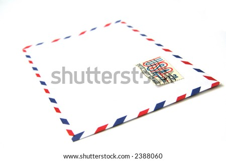 Blank envelope with usa stamp