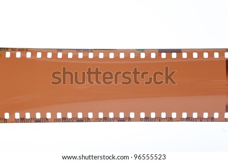 Blank film camera. On a white background