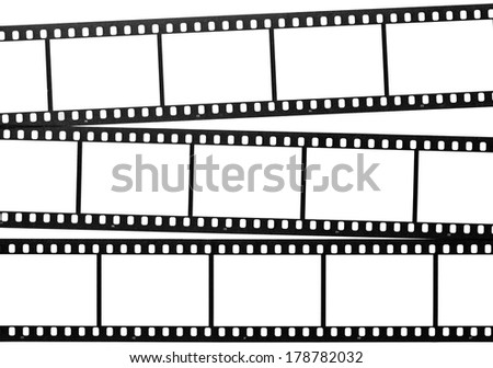 Blank films - stock photo
