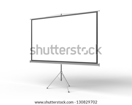 blank flip chart on a white background