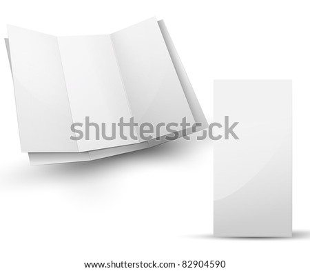 Blank folded brochure for your design presentation - stock photo