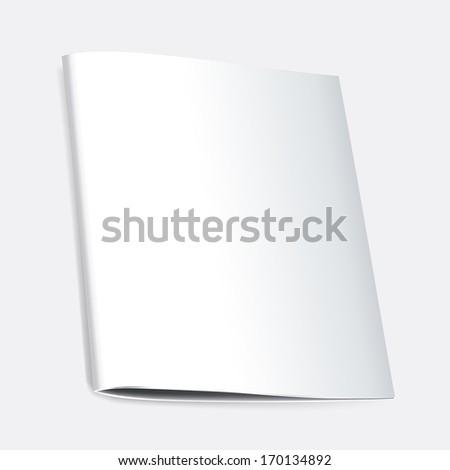 Blank folder, brochure for education documents. Raster version - stock photo