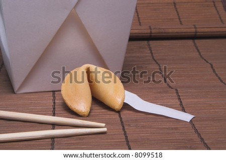 Blank Fortune Cookie Message - stock photo