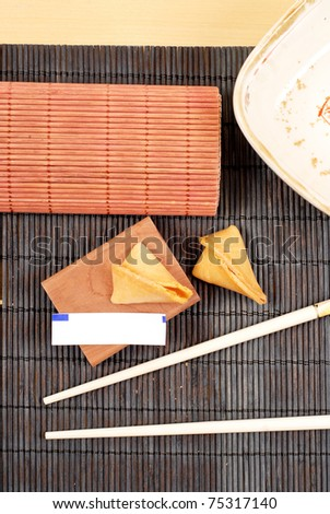Blank Fortune Cookie Paper - stock photo