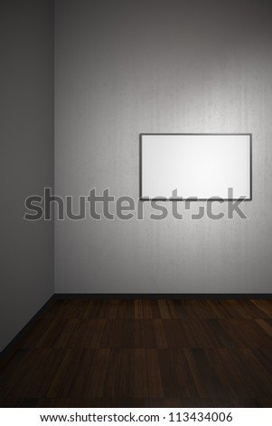 Blank Frame in Art Gallery with Clipping Path in the Frames