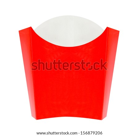 Blank french fries box - stock photo