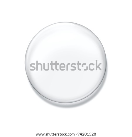 Blank glass badge isolated on white background - stock photo