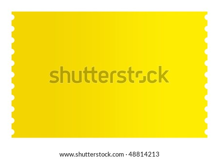 Blank golden ticket isolated on white background. - stock photo