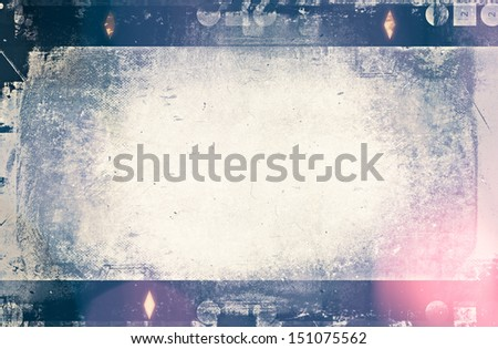 Blank grained film strip texture for background, design element - stock photo