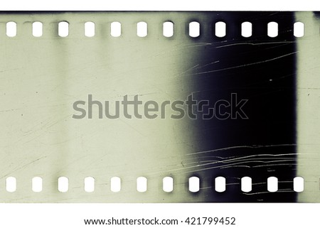 Blank grained noisy film strip texture background - stock photo