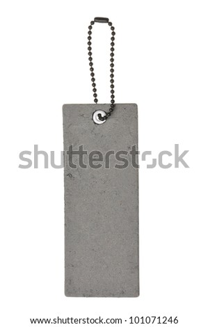 blank gray label isolated on the white background - stock photo