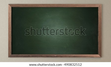 Blank green blackboard 3D design and rendering for your project by Sedat SEVEN