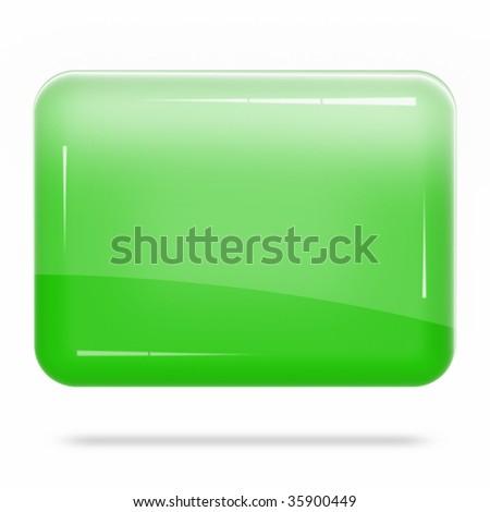 Blank Green Board Float - stock photo