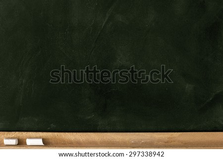 Blank Green Chalkboard./ Blank Green Chalkboard - stock photo