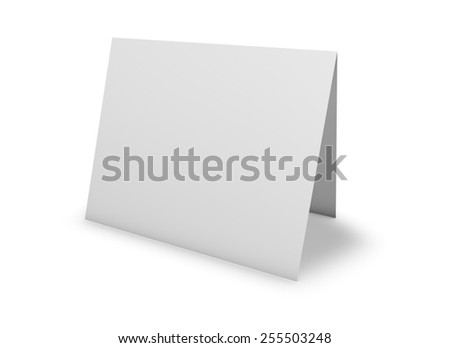 Blank Greeting Card Standing On Floor Illustration 255503248 – Free Blank Birthday Card Templates
