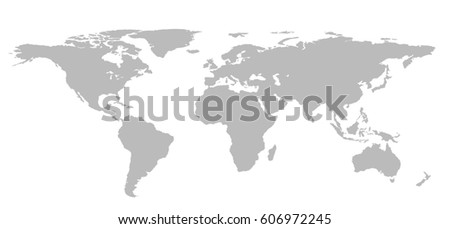 Blank grey world map isolated on stock illustration 606972245 blank grey world map isolated on white background infographics illustration gumiabroncs Image collections