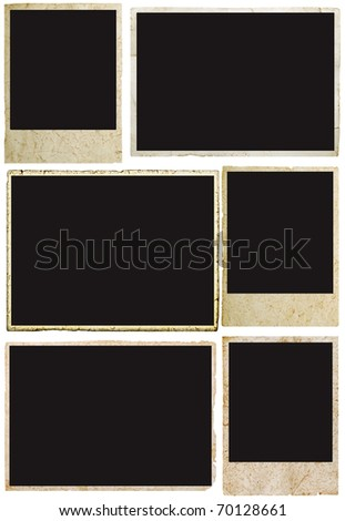 blank grunge photo frame ready to be populated with any image. - stock photo