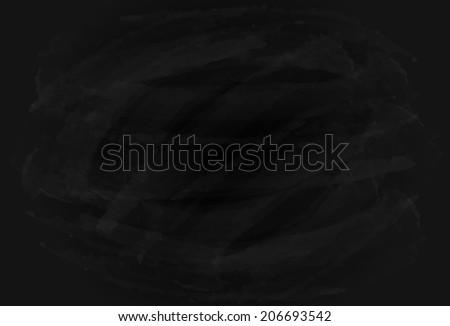 Blank grungy background of a black chalkboard, illustration. - stock photo