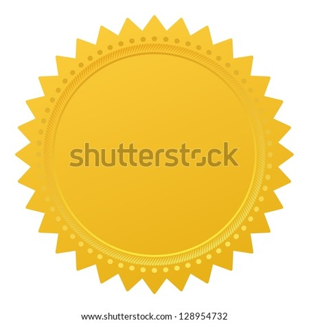 Blank guarantee element sign certificate - stock photo