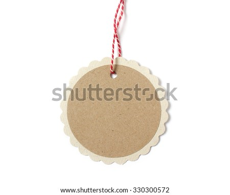 blank hanging paper gift tag round stock photo 330300572 shutterstock