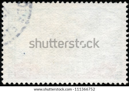Blank horizontal postage stamp isolated on a black background - stock photo