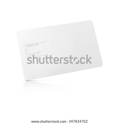 blank 3-in-1 SIM card starter kit, ready for your design, back view isolated on white background with soft shadows