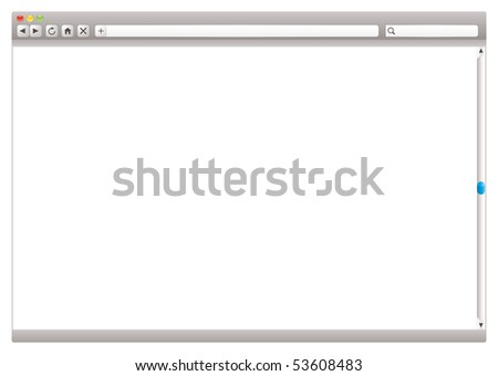 Blank internet browser with navigation arrows and slider - stock photo