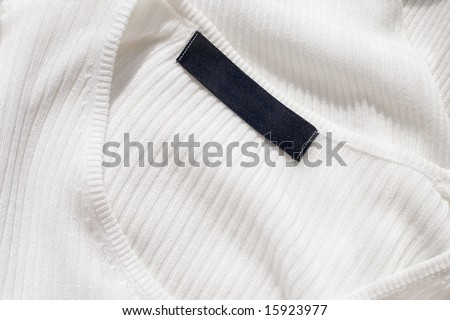 Blank label on a sweater - stock photo