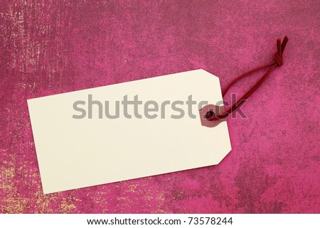 Blank label on wrapping paper - stock photo