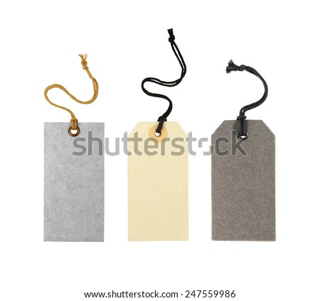 blank label tag isolated on white background - stock photo
