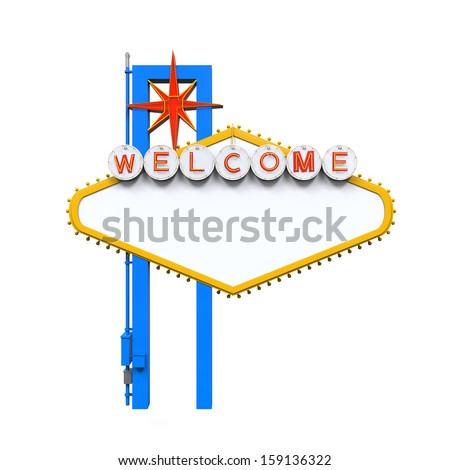 Blank Las Vegas Welcome Sign - stock photo