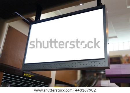 blank led billboard at airport