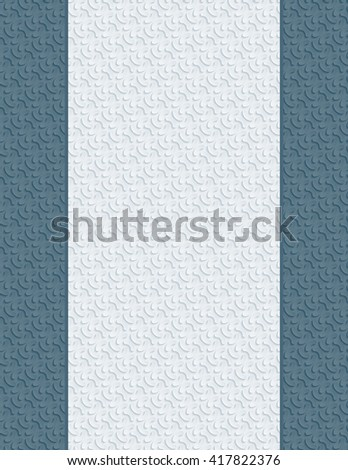 Blank letter paper with 3D seamless texture for cover or title page - stock photo