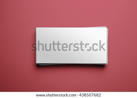 Blank letter template isolated on red background with clipping path ready for your artwork - stock photo
