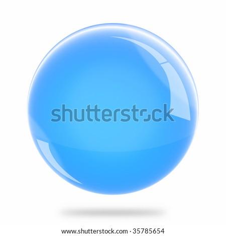 Blank Light Blue Sphere Float - stock photo