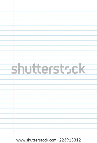 Blank lined paper texture from a notebook or notepad. Great for a writing background or design - stock photo