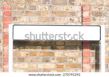 Blank London road sign in London, UK - stock photo