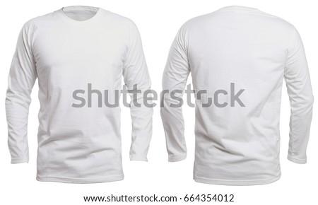 blank long sleve shirt mock template stock photo royalty free