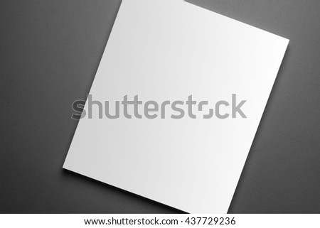 Blank magazine cover template isolated on grey background with clipping path ready for your artwork - stock photo