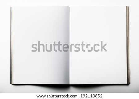 Blank magazine on white background - stock photo