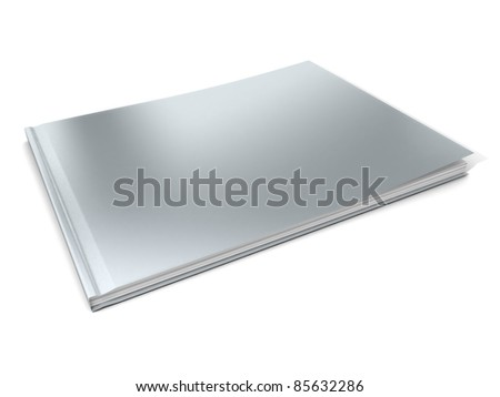 Blank Magazine with blank cover template - stock photo