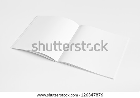 Blank Magazine with soft shadow isolated on White Background - stock photo