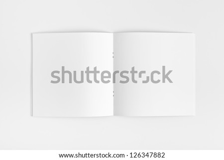 Blank Magazine with soft shadow isolated on White Background