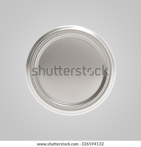 Blank medal or coin. High quality render - stock photo