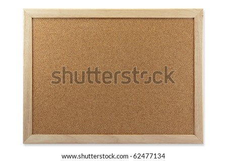 Blank Memo Cork Board Isolate On White Background