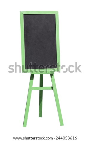 Blank menu blackboard outdoor display isolated with clipping path - stock photo